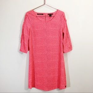 Maison Scotch Neon Coral Shift Dress Size 1 Medium